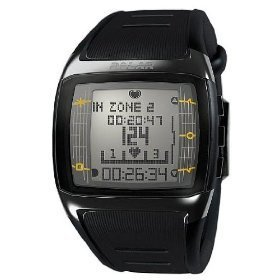 POLAR FT60 Mens Black with White Display Heart Rate Monitor (XXXL) by HEART RATE MONITORS USA