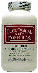 Buffered Vitamin C Crystals 250 gms by Ecological Formulas