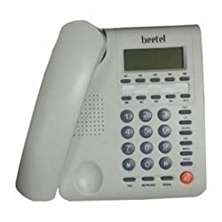 Beetel M59 CLI Corded Phone (Off White)