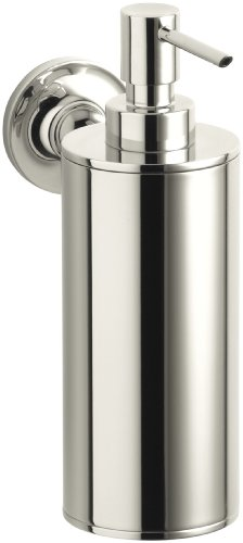 Kohler K-14380-SN Purist Wall-Mounted Soap Dispenser (Vibrant Polished Nickel)