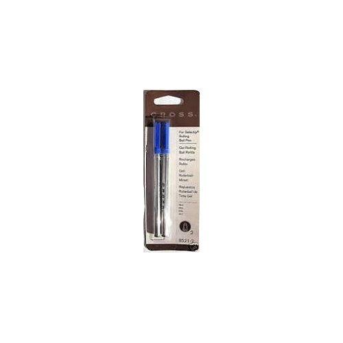 Cross-Recharge pour stylo roller à Gel-Bleu-Lot de 2