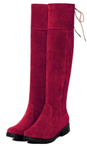 Maybe (Red Leather Thigh High Boots)
