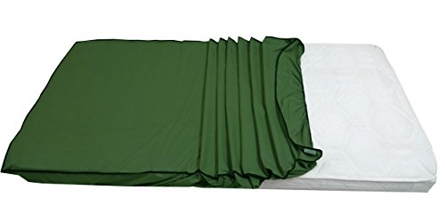 Dream Care Dust & Water Proof Twin Size(36''X78'') Green Fitted Mattress Protector - Set Of 2 Pcs