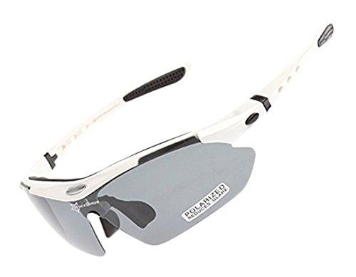 ROCKBROS Outdoor Occhiali polarizzato Sunglasses UV Glasses Occhio Protezione (Windproof, Dust-proof,anti-Shock, Anti-Sand) Per SPORTIVI MTB, Bici,Ciclismo,Trekking Casual, Hiking, Skiing, Surfing, Shooting CS011