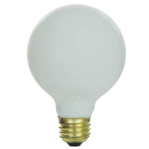 Sunlite 100G25/WH Incandescent 100-Watt, Medium Based, G25 Globe Bulb, White