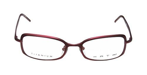[Kata Punto Mens/Womens Rx Ready Red Carpet Style Designer Full-rim Titanium Eyeglasses/Eyewear (52-18-135, Maroon /] (Full Plastic Iron Man Costume For Sale)