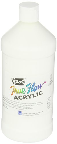 Sax True Flow Medium Bodied Acrylic Paint - Quart - Titanium White