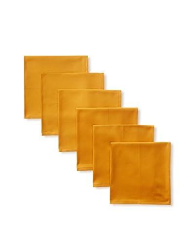 Garnier-Thiebaut Set of 6 Confetti Napkins, Ocre