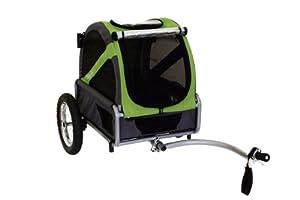 DoggyRide Mini Dog Bike Trailer, Spring Green Grey by DoggyRide