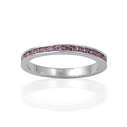 Ring June Birthstone Alexandrite CZ Eternity Band Ring Ring Wedding
