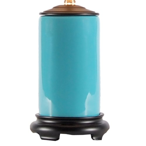 details about small turquoise blue porcelain accent table lamp new. Black Bedroom Furniture Sets. Home Design Ideas