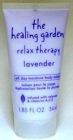The Healing Garden Relax Therapy Lavender All Day Moisture Body Lotion Travel Size 1.85 oz