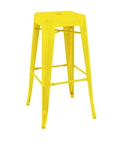 Three Hands Tall Metal Stool, Yellow