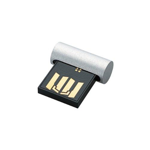 ELECOM USBメモリ 32GB 超小型 シルバー MF-KSU232GSV