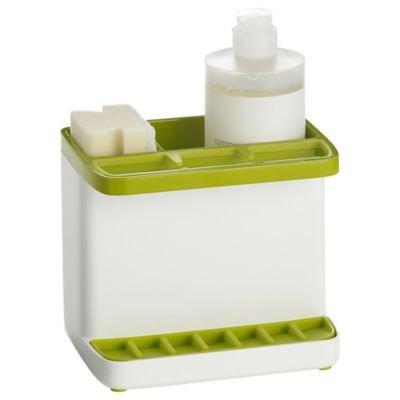 Organisateur dÕŽvier vert et blanc ILO pour Žponges, brosses et autres accessoires de vaisselle (16 x 11,5 x 14Êcm)