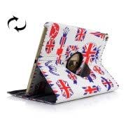 UK Flag Style Pattern 360 Degree Rotatable Smart Cover Leather Case for iPad Air 2 / iPad 6