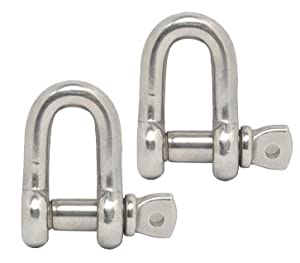 Cosmos Silver Color 304 Stainless Steel D Shackles (3/8