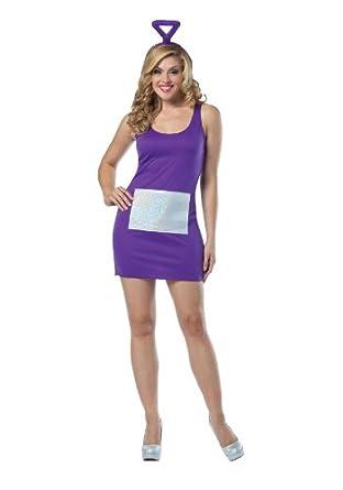 Teletubbies - Tinky Winky Dress Adult Costume, One-Size (Standard), Purple