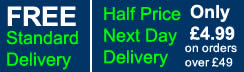 Half Price Next Day Delivery £4.99