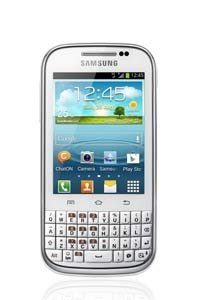 Samsung Galaxy Chat B5330 Android 4 QWERTY Touch & Type Smart Phone by Tech World White Black Friday & Cyber Monday 2014