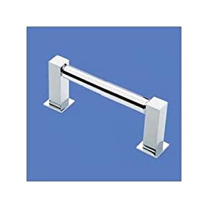 "Bundle-20 Square Bollard Single Towel Bar Size: 24"", Finish: Polished Chrome"