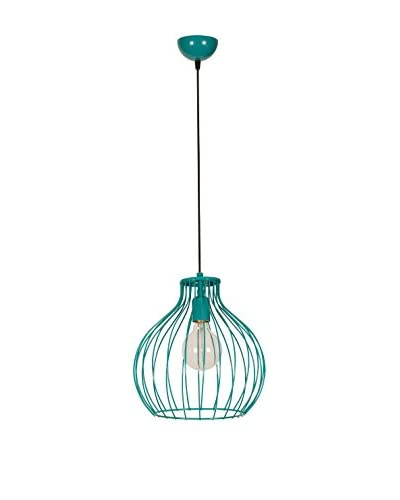 Light&Design Lámpara De Suspensión Turquesa