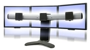 Ergotron LX Triple Display Lift Stand for 27'' Display - Black