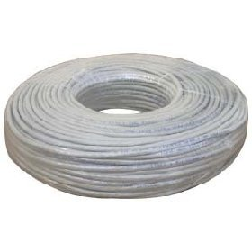 100ft Cat5E Certified Light Grey bulk cable - solid core