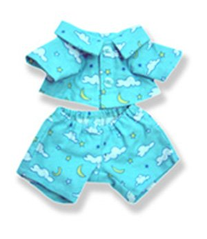 Blue Pjs Outfit Clothing Fits 8
