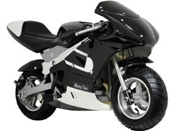 Mototec Gas Pocket Motorcycle Color: Black