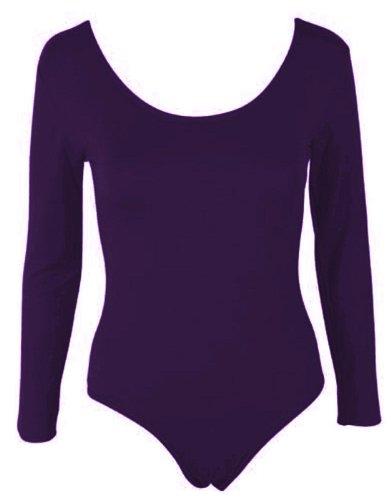 Funky Boutique elasticizzato Taglia da donna a maniche lunghe da donna per ballerine corpo Top T-Shirt 8-14