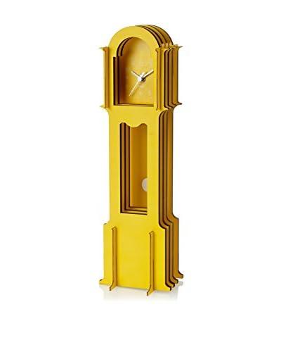 Wolf Designs Jigsaw Mini Grandfather Clock, Yellow