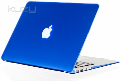 Kuzy - AIR 13-inch BLUE Rubberized Hard Case Cover Satin for NEW Apple MacBook Air 13.3