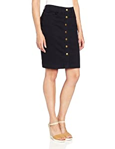 Jones York Women's Slim Skirt With Jean Detail