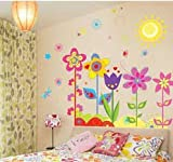 Cute Flowers Plants Wall Sticker Removable Baby Bed Room Art Mural Wall Sticker Decal Home Decoration