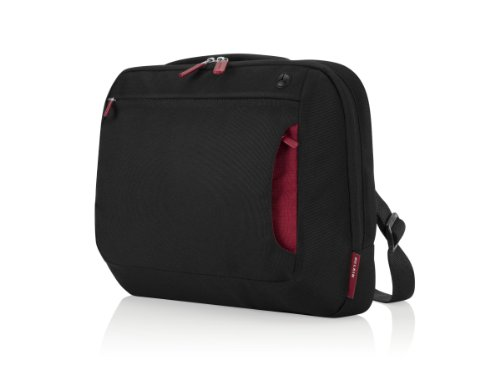 Belkin Bundle Case with Mobile Retractable Mouse for Upto 12.1 inch Netbook - Black/Red