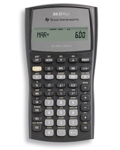TEXAS INSTRUMENTS BA-2-PLUS Calculator, Financial, NFV,MIRRModified Duration,Payback,Discount Payback