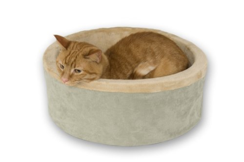 K&H 3193 Thermo-Kitty Indoor Heated Cat Bed, Sage