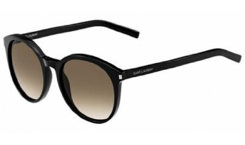 Yves Saint Laurent Yves Saint Laurent Classic 6/S Sunglasses-0807 Black (HA Brown Grad Lens)-54mm