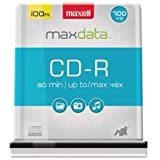 Maxell CDR 700MB 80MIN 48X-SPINDLE 25PK 648225 2-Pack