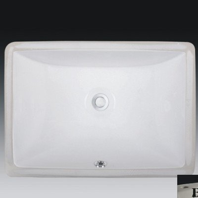Review Wells Sinkware RTU2015-6W Rectangular Vitreous Ceramic Lavatory Single Bowl Undermount, 20 x ...