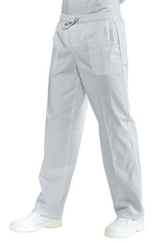 Isacco-pantaloni unisex al medico, con bordo elastico, colore: bianco bianco M