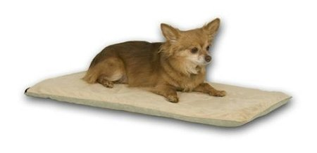 K & H Washable, Cozy Soft Thermo Pet Mat Heated Dog Bed - Mocha