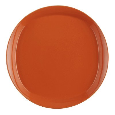 Dinnerware Round And Square 4 Piece Dinner Plate Set In Tangerine