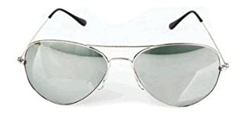 Small Adult Aviator Sunglasses with Silver Frames & Fully Mirrored Lenses Offering Full UV400 Protection Cat 4 Lenses Come Complete with carry Case, Pouch, Cleaning Cloth & Matching Cord