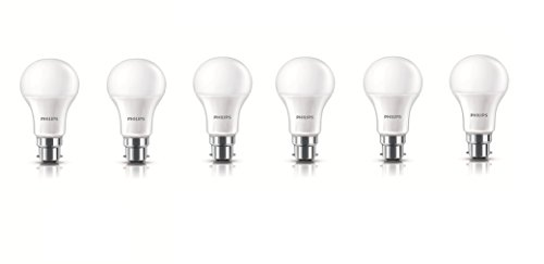 Philips 10.5W B22 LED Bulb (Cool Day Light, Pack of 6)