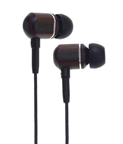 Symphonized MTRX Premium Genuine Wood In-ear Noise-isolating Headphones with Mic and Nylon Cable (Black)