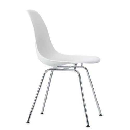 Vitra 440024000204 Eames - Silla (pl�stico y cromo, 810 x 465 x 550 mm), color blanco