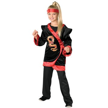 Red Dragon Ninja Children's Costume (Girl's Children's Costume)