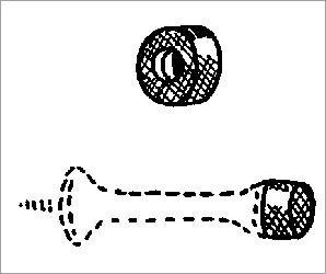 Hb Ives White Rubber Tip Doorstop Crt6 front-42171